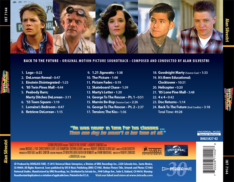 Alan Silvestri S Back To The Future Scores All 3 Now