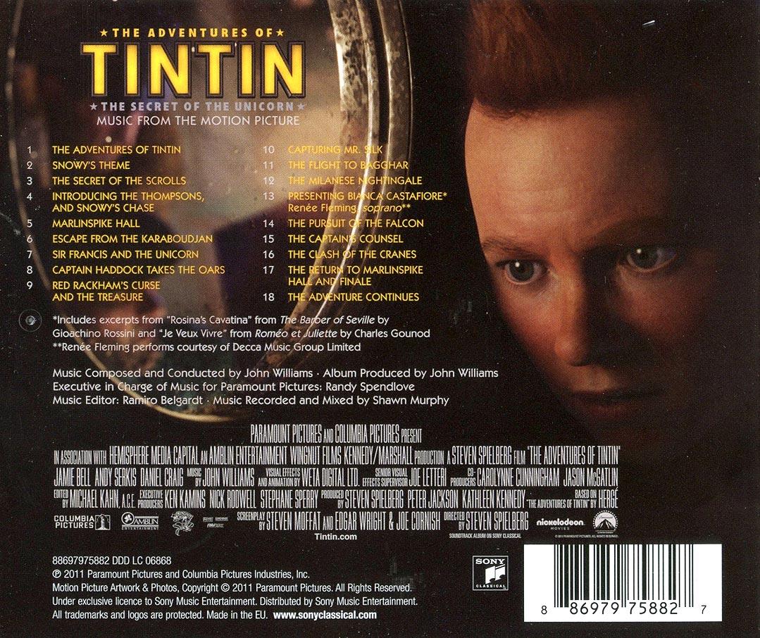 the adventures of tintin (2011) – john williams fan network – jwfan