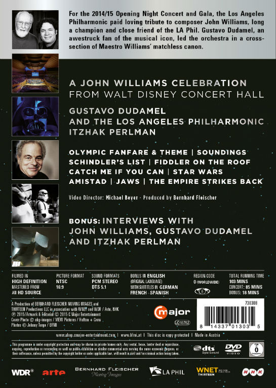 L A Phil S John Williams Tribute To Be Released On Dvd