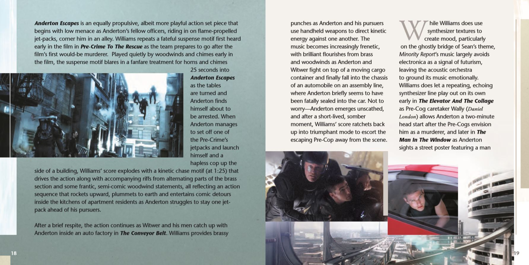 Minority Report Booklet pages 18 & 19